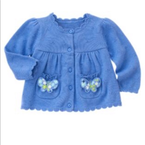 GYMBOREE FLOWER SHOWERS BLUE DAISY HOODED JACKET 3 4 5 6 7 8 10 12 NWT
